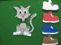 cat, flannel friday, quiet book, stori time, read, flannelboard, felt board, shoe, flannel board