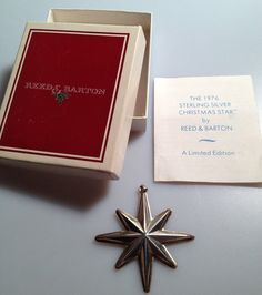 1976 STERLING Silver CHRISTMAS STAR by Reed & by thepopularjewelry