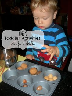 Toddlers learn life skills through play.   101 Toddler Activities Life Skills   #Montessori #Preschool