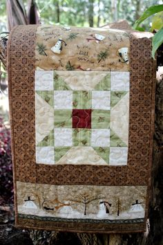 Quilted Table Runner  Snow Wonderland  Quilted by RedNeedleQuilts, $55.00