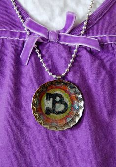 Bottle Cap Necklaces- a Fun Party Craft!