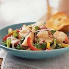 Mediterranean Potato Salad with Shrimp and Feta