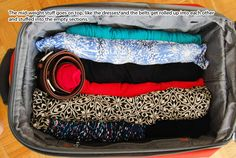 How to pack a carry on. This has some good tips for ny