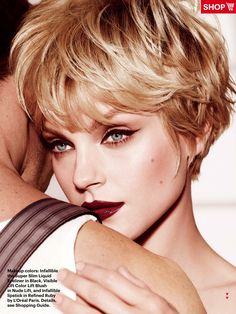 Jessica Stam, lovely with short hair.