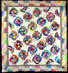 Montana Cartwheel quilt by Mary Kathryn Randall (Arizona). The Quilt Index Record 67-EC-B5