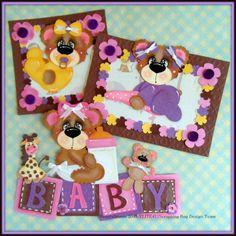 ELITE4U Babygirl Tear Bear Handmade Paper Piecing Scrapbook Album Page Roxcrafts | eBay