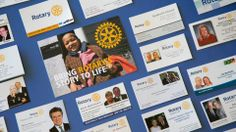 The 2014-15 district governors have already started to adopt the new identity by creating business cards with the updated logos an colors.  Be sure to share how you're using Rotary's visual identity by tagging your pins with #rotarystory.