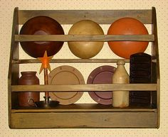 Primitive DIY Bowl Rack