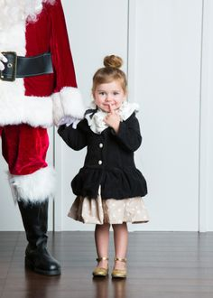santa pictures, with little girl high fashion