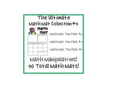 Ultimate set #3 on CD!  This is a set of 30 Math Mats using a variety of math manipulatives!