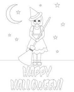 Don't Eat the Paste: Witch Coloring Page