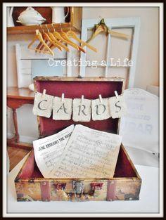 Cute idea for wedding cards!