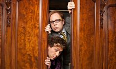 Reece Shearsmith, bottom, and Steve Pemberton in the opening episode of Inside No 9. Photograph: Gary Moyes/BBC/Gary Moyes