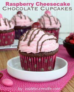 Raspberry Filled Vanilla Bean Cupcakes with Raspberry Buttercream