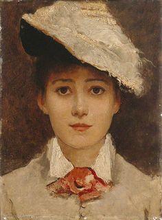 ♀ Painted Art Portraits ♀ Louise Jopling | Selfportrait, 1877