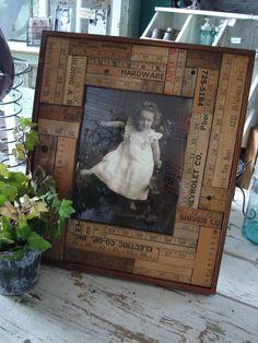 DIY.. Gorgeous Vintage Styled Upcycled Ruler Frame.. Easy Tutorial!