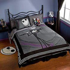 bedding, bed sets, bedroom sets, duvet covers, nightmar, tim burton, christmas bedroom, kid, jack skellington