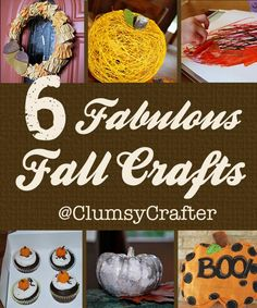 string crafts, fall crafts, string pumpkin, clumsi crafter