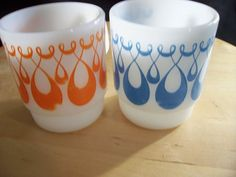 Fire King Mugs 1970s Anchor Hocking Mugs Cups by Breakables, $18.00