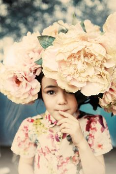 she wore flowers in her hair style, children, inspir, beauti, flowers, floral, flower girl, photographi, kid