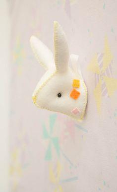 faux taxidermy bunny.