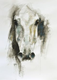 "Saatchi Online Artist: Benedicte Gele; Chalk, 2010, Drawing ""Alerte VI"""