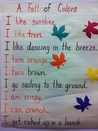 kindergarten fall poems - Google Search