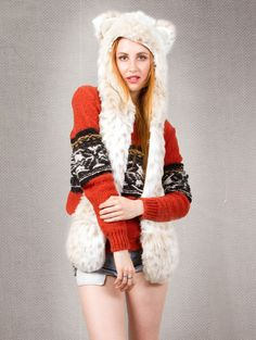 What's Your Spirit Animal? ...... SNOW LEOPARD (Faux Fur) .... Traits: Silent > Mindful > Independent. Find out more about the #Snow #Leopard #Spirit #Animal at: https://www.spirithoods.com/adults/womens/snowleopard/708/# $119 #Gifts #Fashion #SpiritHood #SpiritHoods #Women #Hoodie #FauxFur #Paws #Scarf #ProBlue