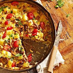 Potato, Bacon, and Parmesan Frittata From Better Homes and Gardens, ideas and improvement projects for your home and garden plus recipes and entertaining ideas.
