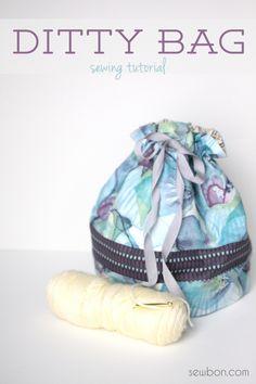 Ditty bolsa de costura Tutorial Sewbon.com