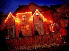 Love the orange lights!