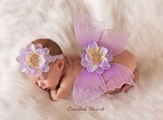 DREAMY Lilac and Lavendar Sequin Flower HEADBAND -Gorgeous Photo Prop -Spring Summer Easter Ready -Amazing Detail - Matching Wings on Etsy, $12.95