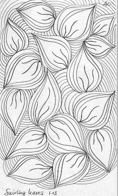 LuAnn Kessi: Quilting Sketch Book.....Swirling Leaves