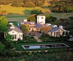 Sonoma Ranch in California by Walker-Warner Architects modern farmhouse, architects, dreams, wine country, pool, dream homes, dream houses, courtyard, farm houses
