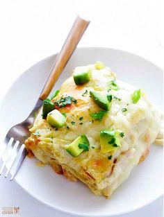 White Chicken Enchilada Casserole | 20 Casserole Recipes That Are Actually Delicious