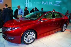 Lincoln showcased its new 2013 MKZ hybrid at the New York Auto Show.