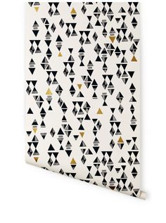 Hygge & West | Triangles (Almost White/Charcoal & Gold)