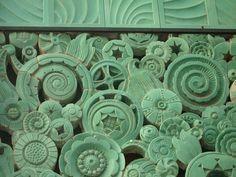 Art Deco ceramic tiles in Pasadena, California