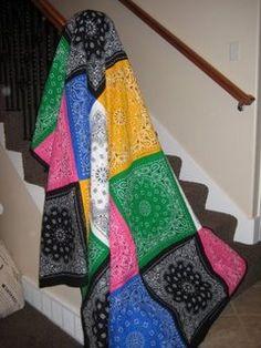 Make A Bandana Quilt.  Great Beginner Project