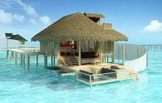 Over water bungalow in the Maldives