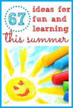 Additional proof from @icanteachmychil that you can create your own summer camp:  67 Ideas for Fun and Learning This Summer