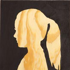Profil målad på plywood, en cool #DIY idé!
