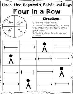 Free geometry resource from Fourth and Ten
