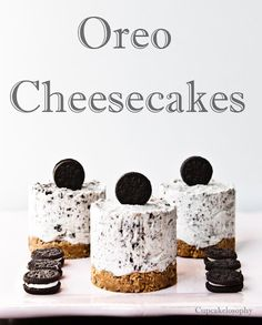 No bake Oreo cheesecakes. These would not last around me!!