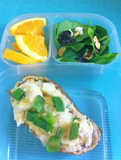 Twice Baked Potato packed for lunch with @EasyLunchboxes