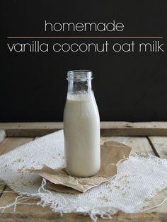 How to Make Homemade Vanilla Coconut Oat Milk.