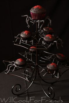 Black Widow Cupcakes...