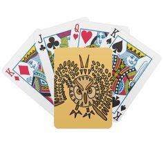 Owl Art Design Bicycle Card Deck #owls #birds #cards #playingcards #art #animals #zazzle #petspower