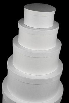 """Paper Mache Round White Nesting  Boxes (5 boxes )  $19 (6"""""""" to 14"""" ).) box white, hat boxes, gift boxes, bridal crafts, mach box, cakes, paper mache, cake boxes, wedding card boxes"""