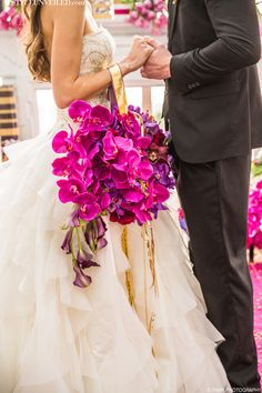 radiant orchid bouquet / shawna yamamoto design / d. park photography found on styleunveiled.com